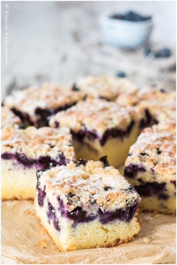 Blaubeer Buttermilch Kuchen Mit Streuseln Kleines Kulinarium