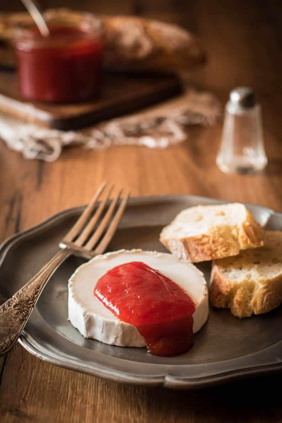 Paprikamarmelade Mermelada de pimientos rojos - Kleines Kulinarium