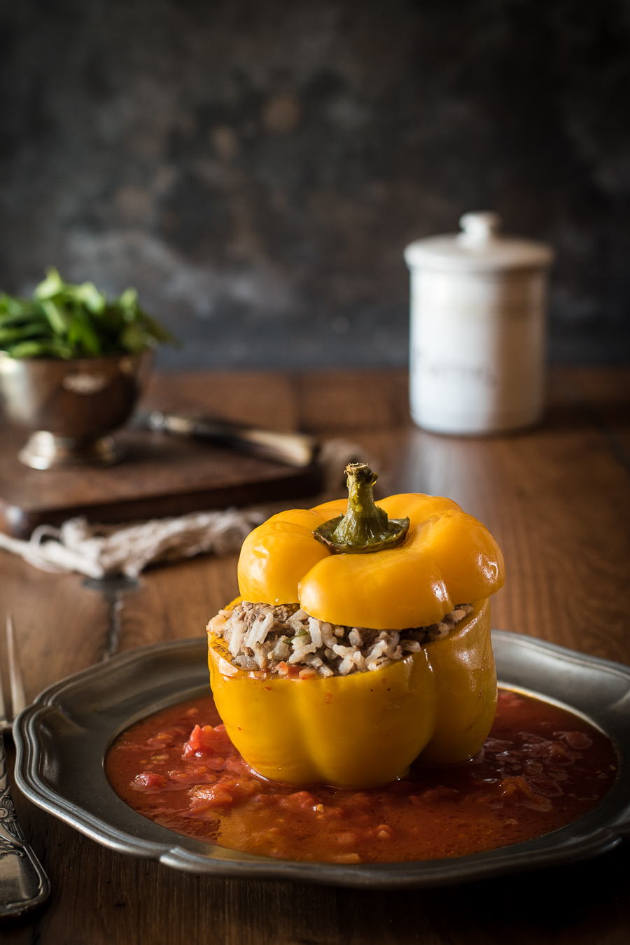 Gefüllte Paprika wie von Muttern - Kleines Kulinarium
