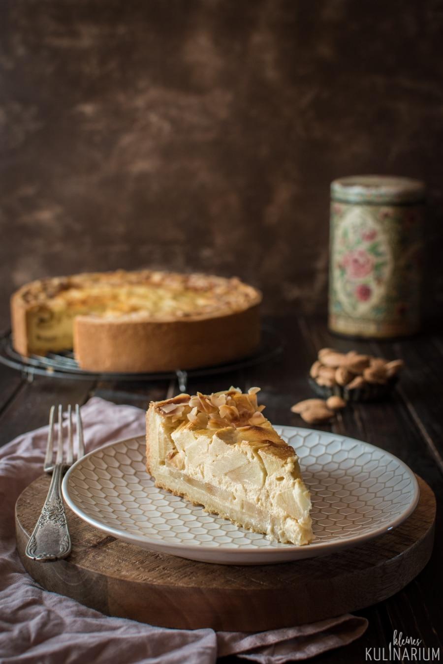 Apfel Schmand Kuchen Mit Buttrigem Murbteig Kleines Kulinarium