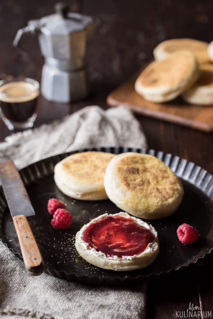 English Muffins selbstgemachte Toasties - Kleines Kulinarium