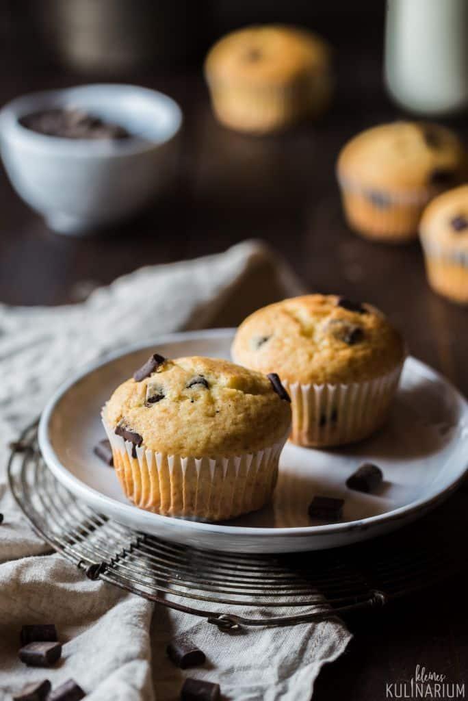 Chocolate Chip Muffins Vanille-Schokoladen-Muffins - Kleines Kulinarium