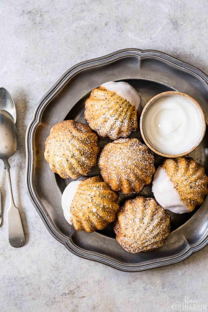 Zitronen-Mohn-Madeleines - Kleines Kulinarium