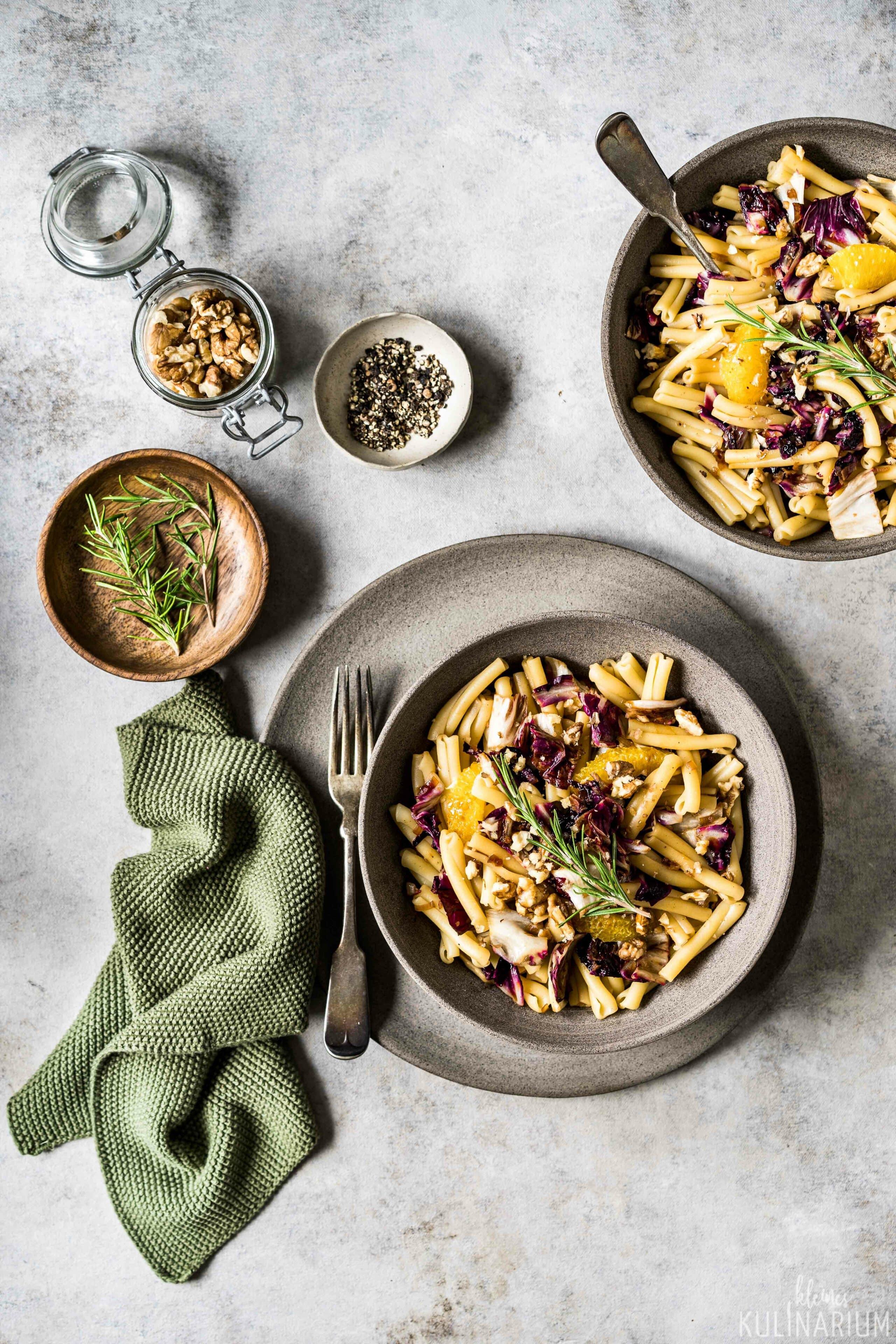 Herbstliche Pasta mit Radicchio Orangen und Aceto Balsamico di Modena g.g.A. - Kleines Kulinarium