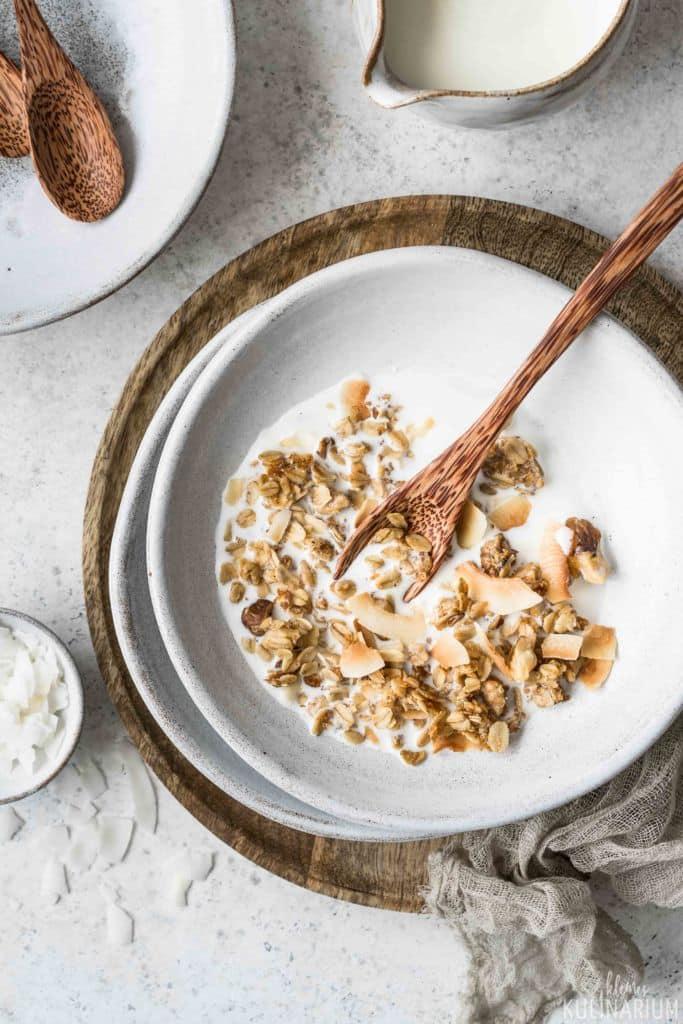 Kokos Granola aus dem Backofen - Kleines Kulinarium