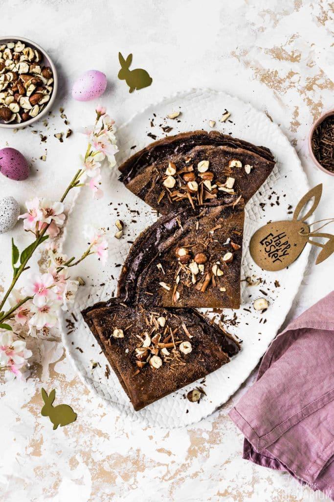 Schokoladen-Crêpes mit Schokoladencreme-Füllung - Kleines Kulinarium