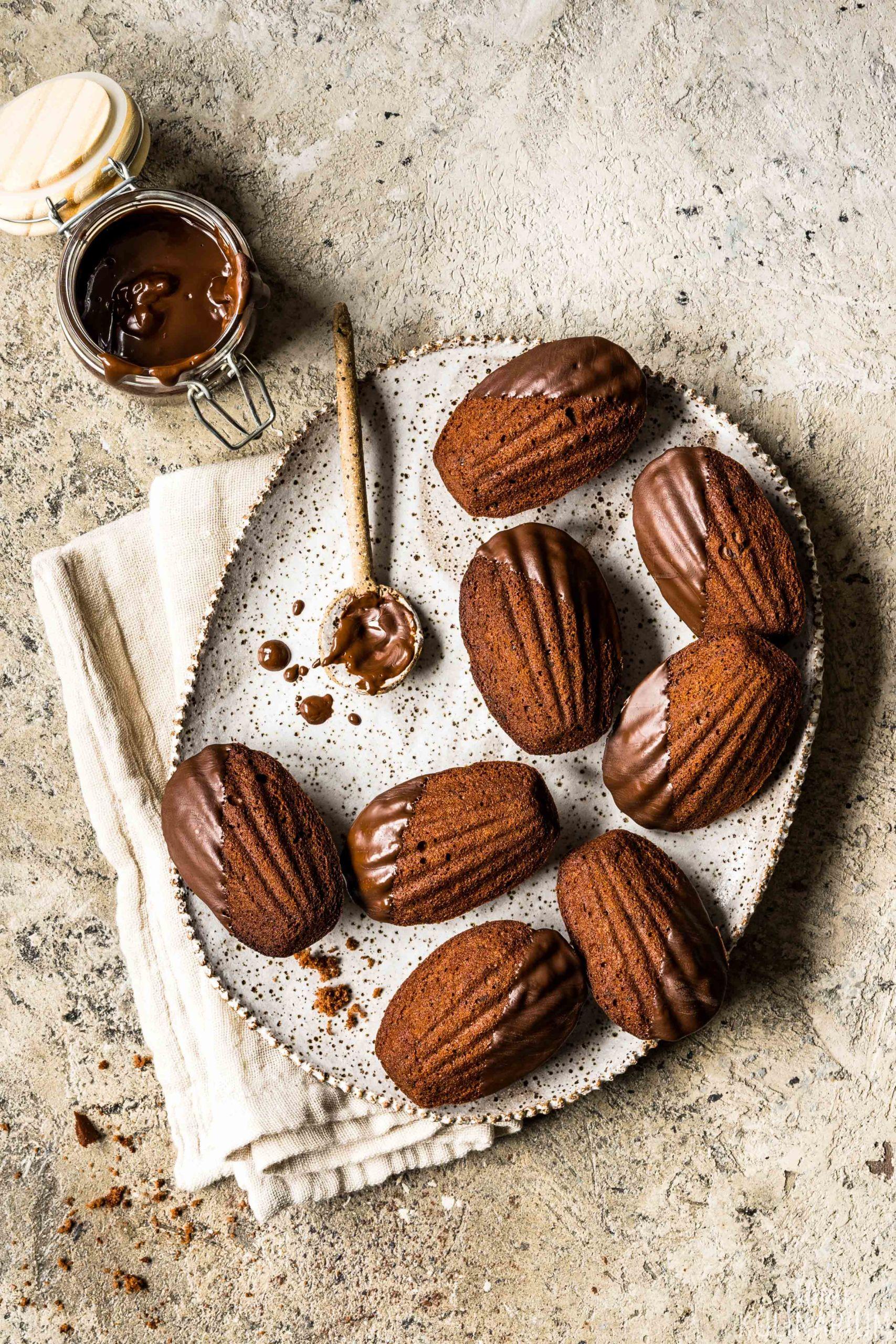 Madeleines au chocolat Schokoladen Madeleines